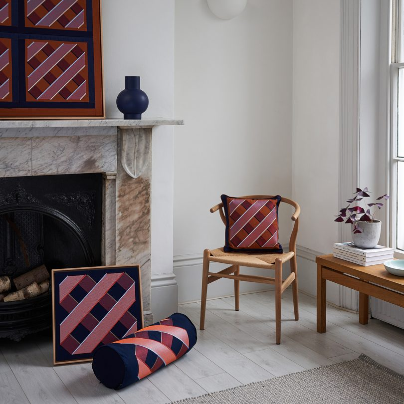 interior space with various textiles
