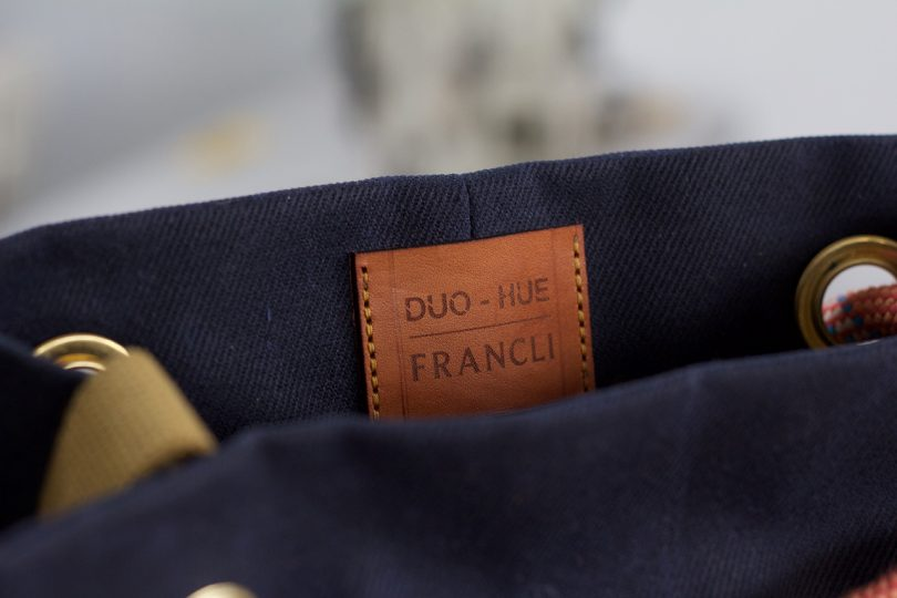 label closeup