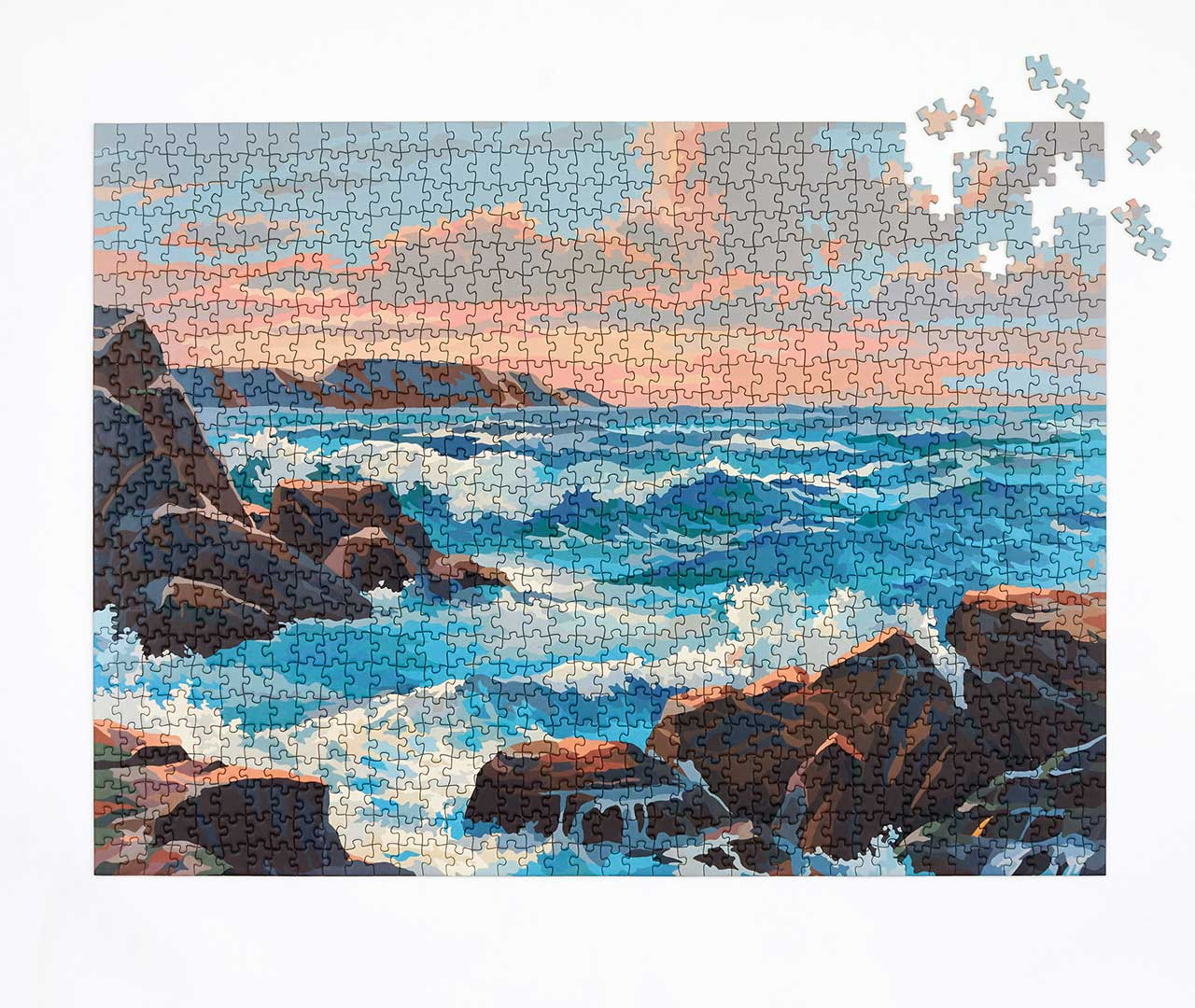 1950s Inspired Paint by Numbers Puzzles Featuring Modernized Landscapes