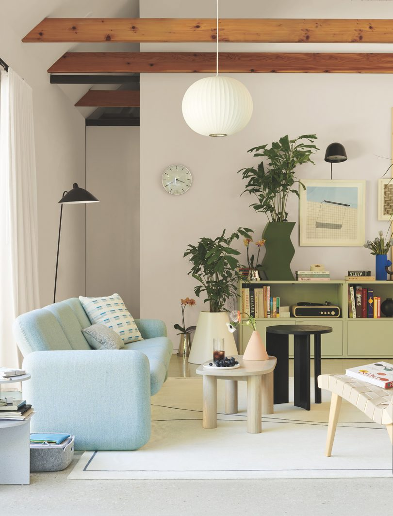 sofa in living space
