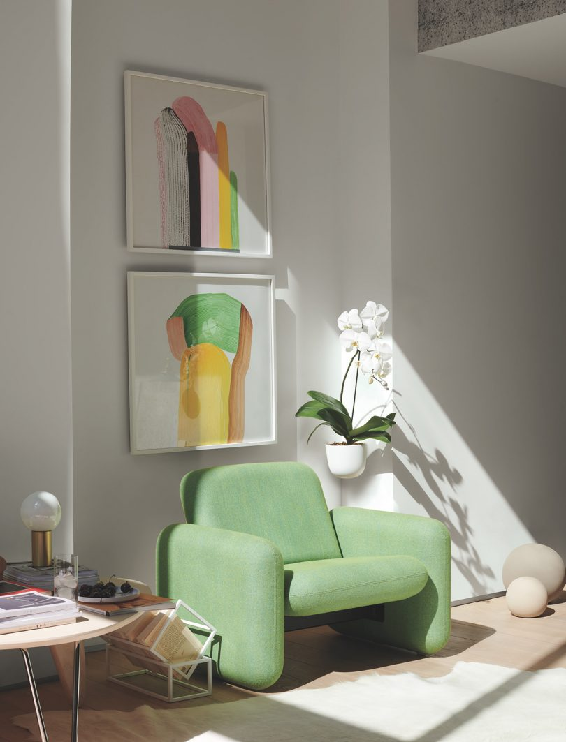 chair in living space