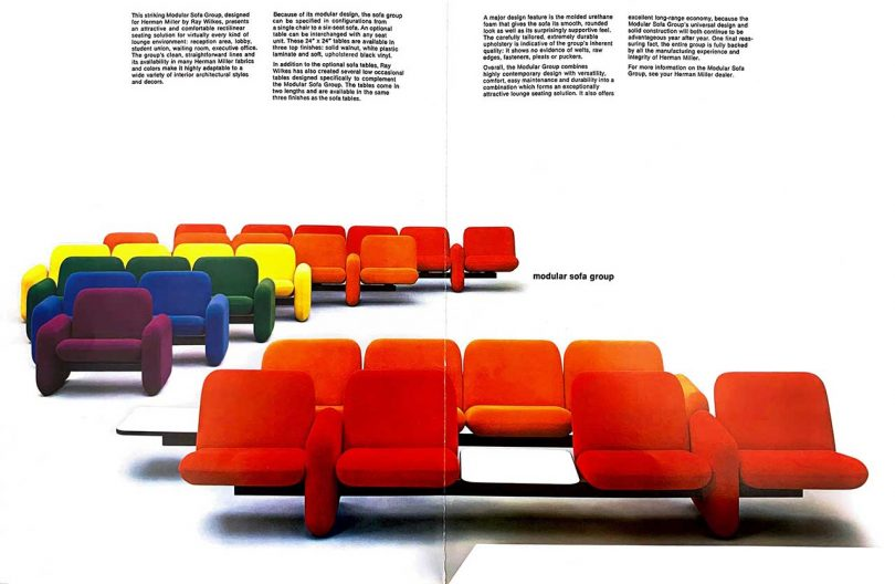 archival image of sofas