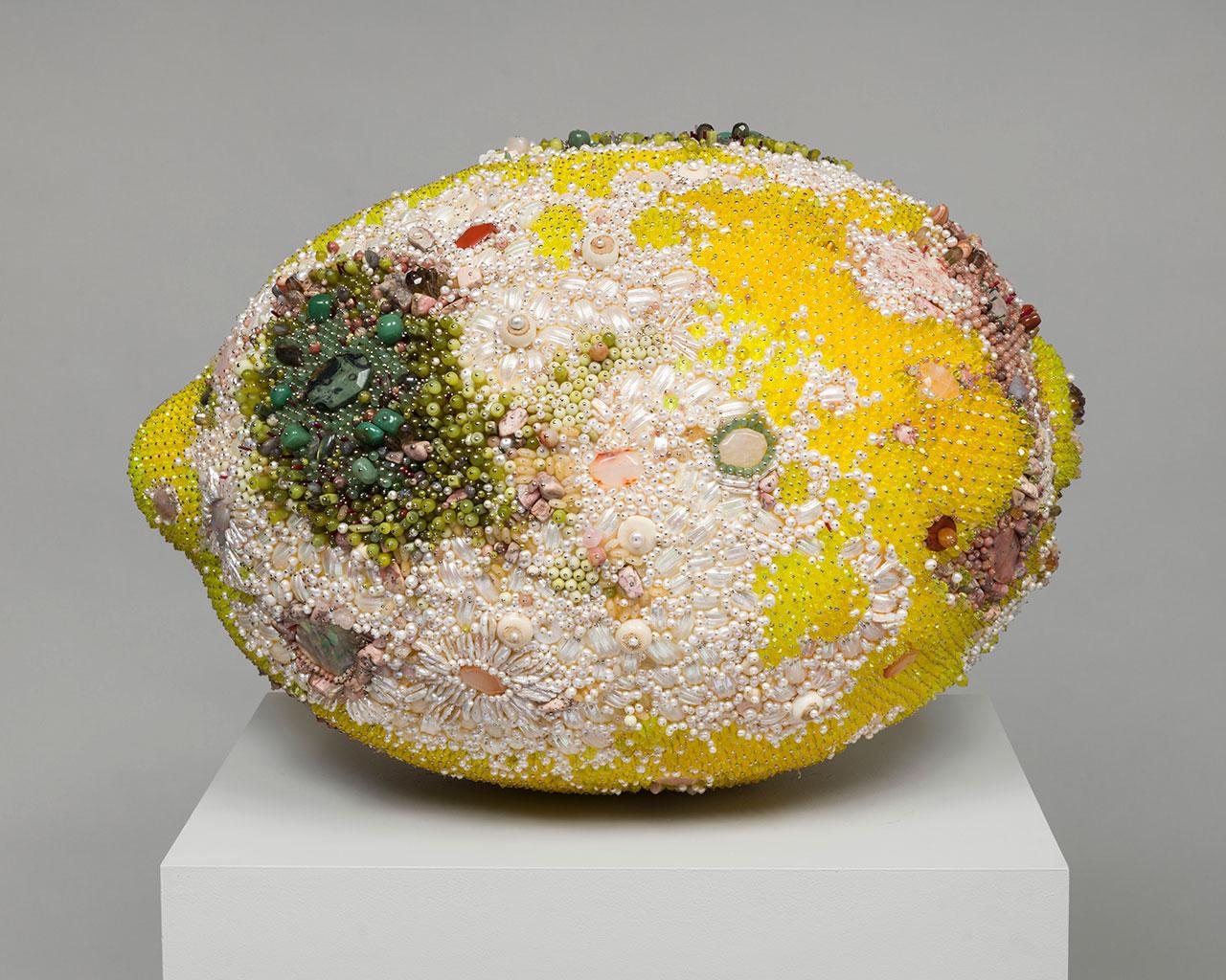 The Sculpture of Kathleen Ryan: Thousands of Gemstones + Decaying Fruit