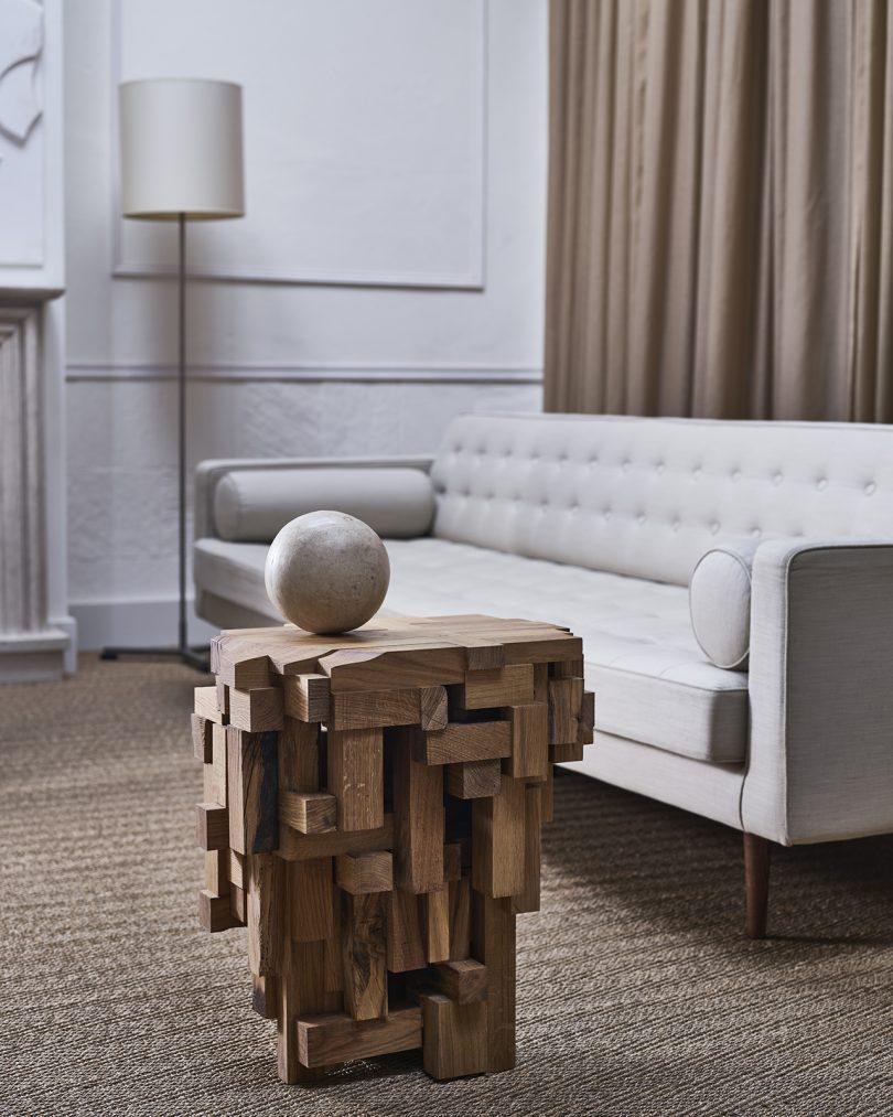 sculptural side table