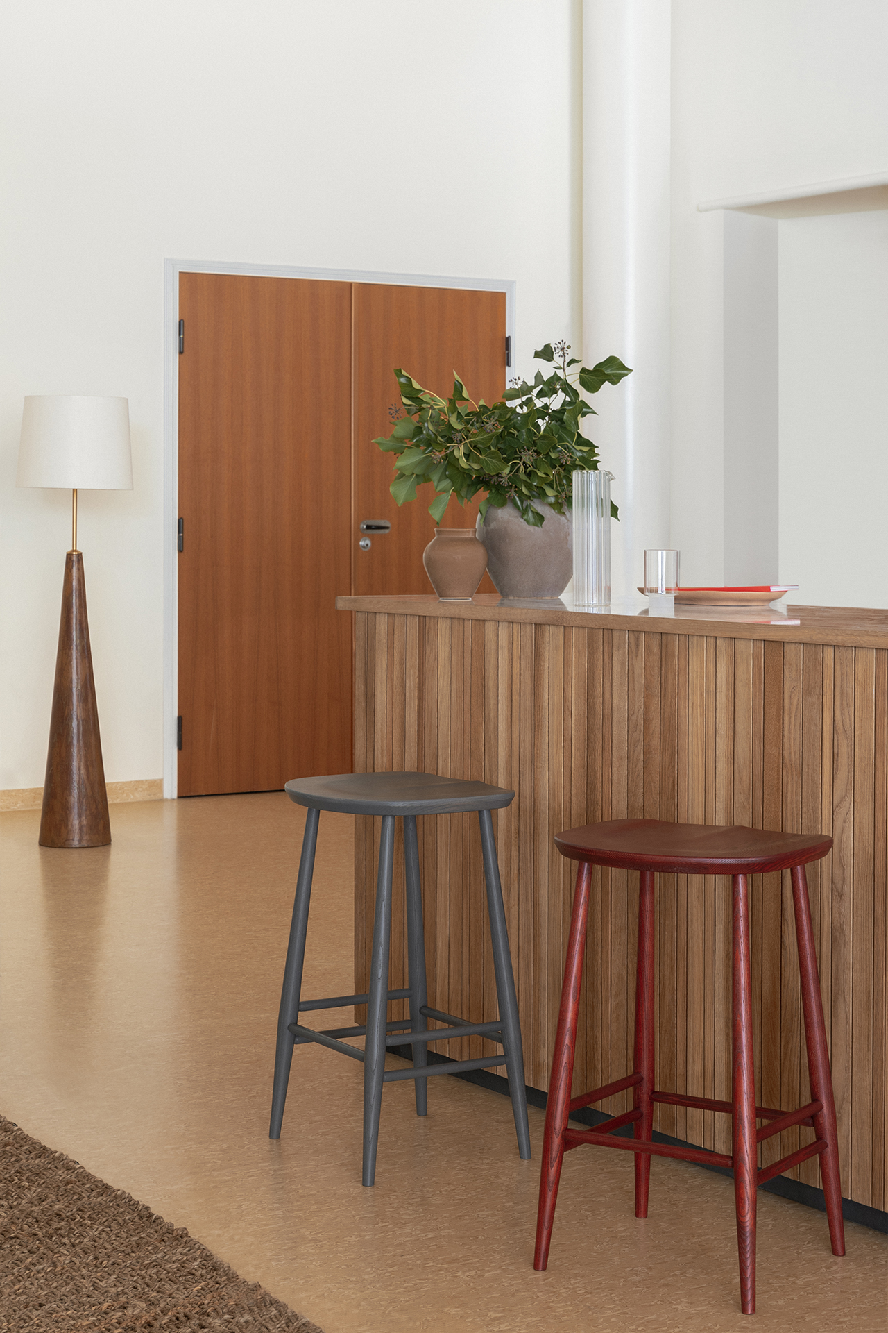counter with stools