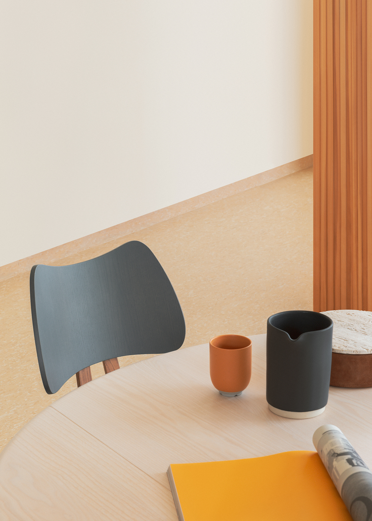 detail of table and chair