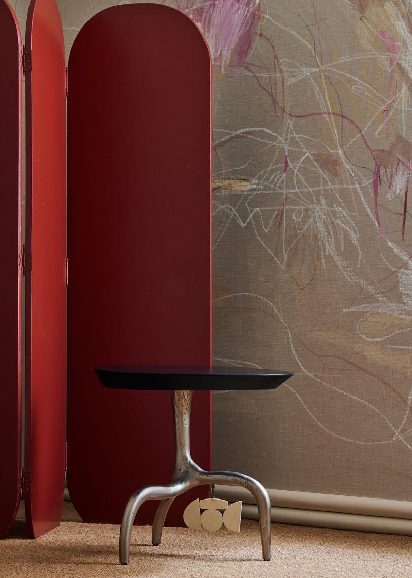 folding screen, stool