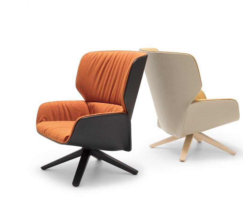 two lounge chairs