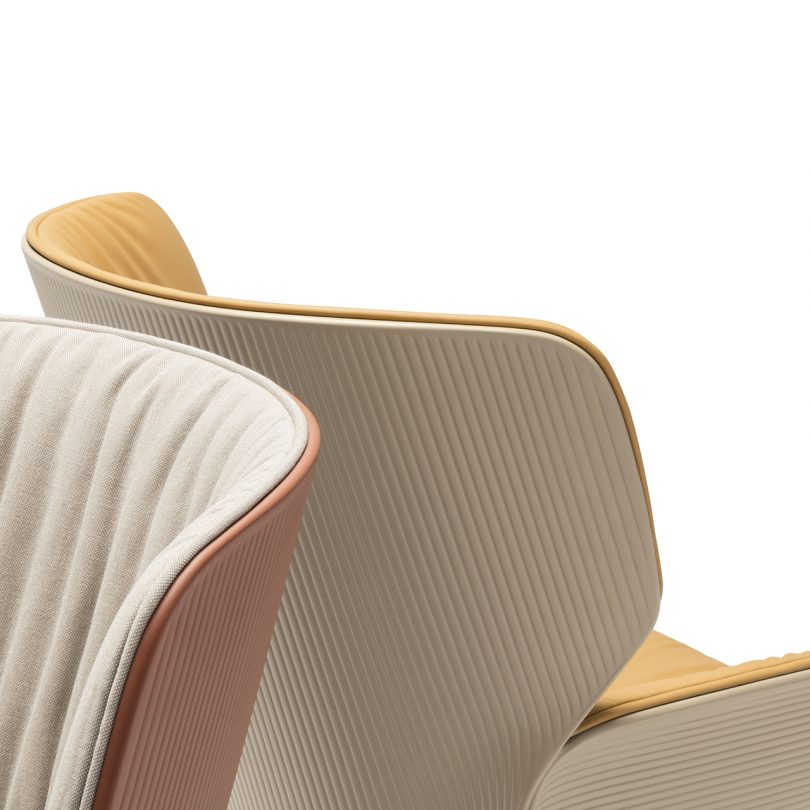 detail of two lounge chairs