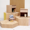 bedside tables on risers