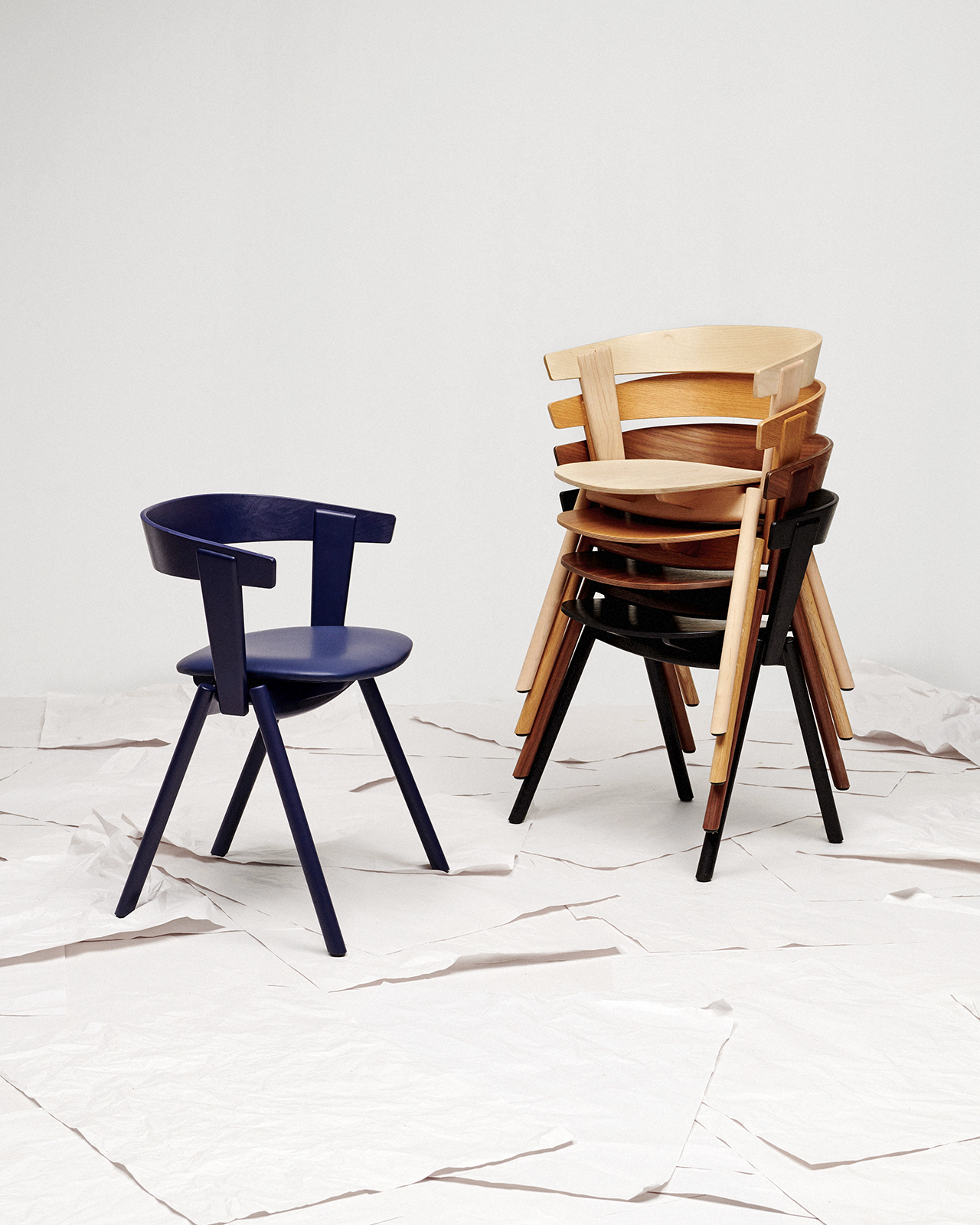 chair with stacked chairs