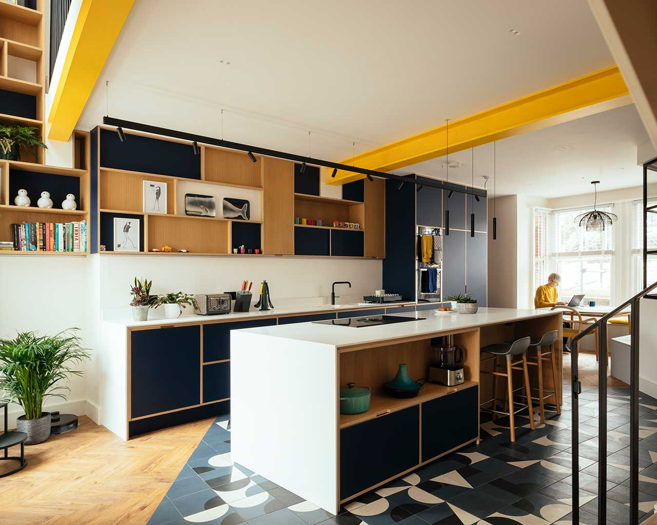 A Brighton Home Provides the Basement Flat to Change into One Trendy Dwelling