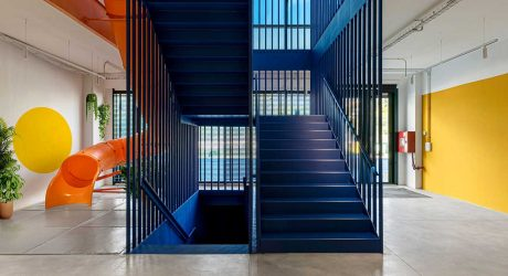 Ravenpack Gets a Colorful New Headquarters Complete With a Slide + Game Room
