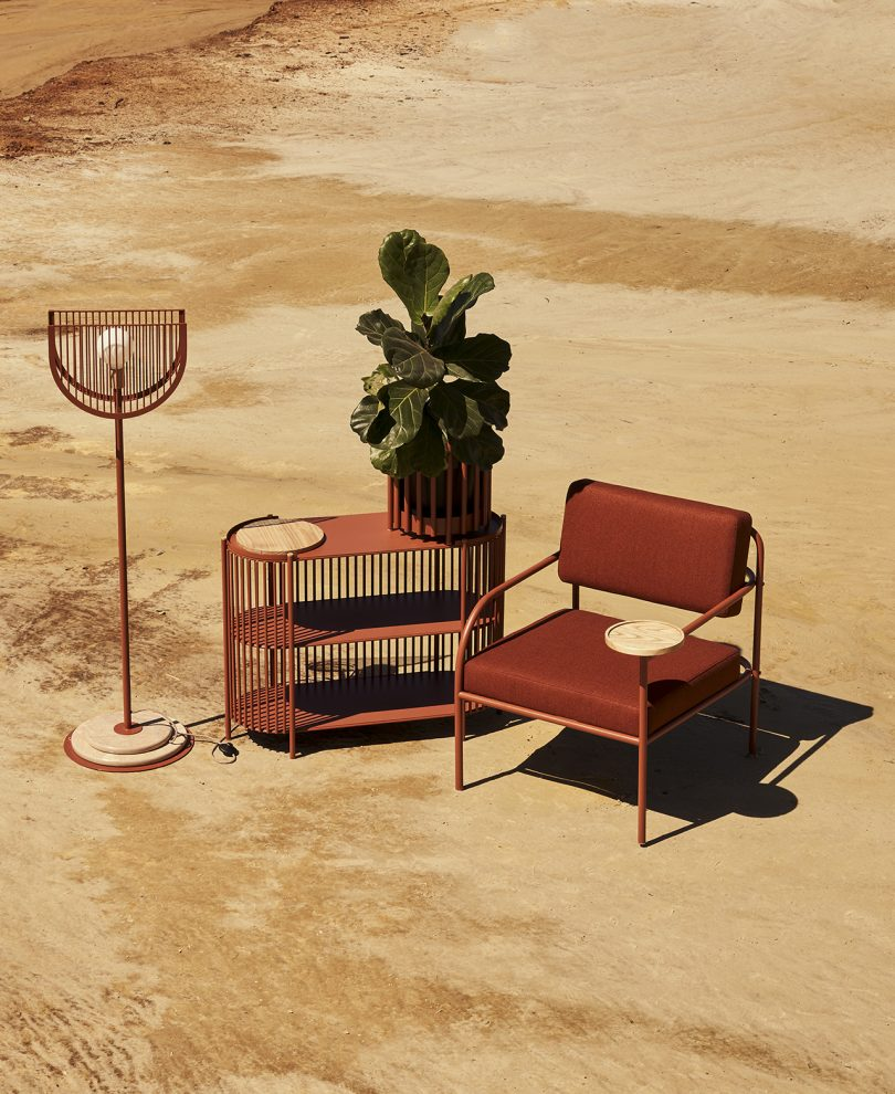 furniture collection styled outdoors