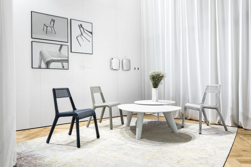 chairs and coffee table in living space