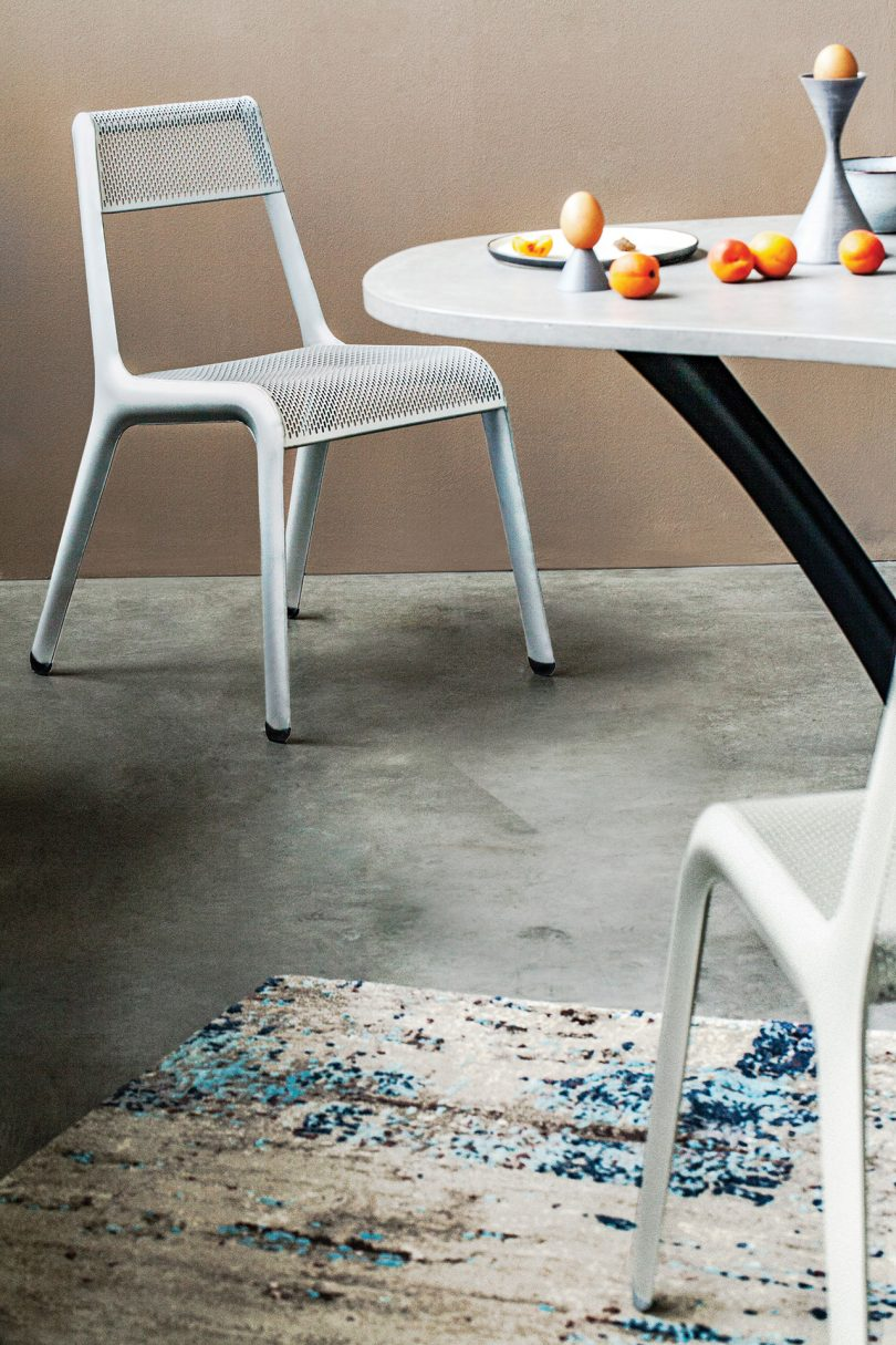 chair in dining space