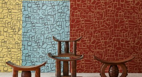 Chrissa Amuah Designs Textiles for Bernhardt Designs Inspired by Ghanaian Symbology