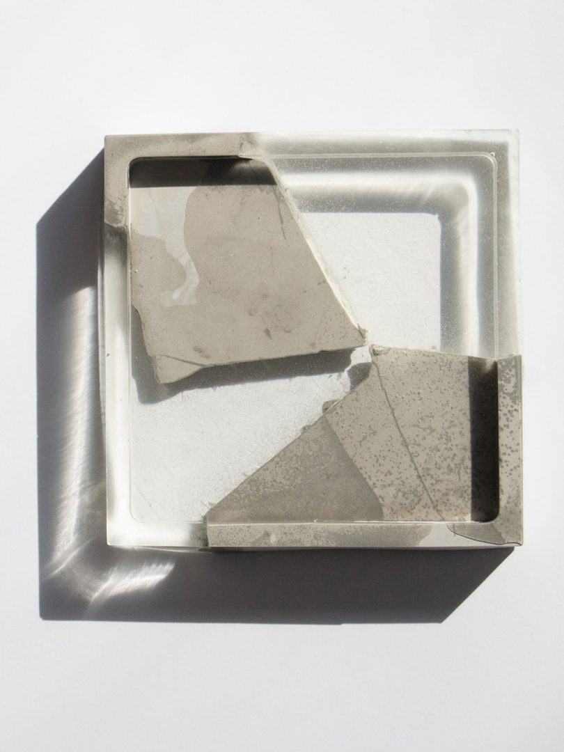concrete and resin coaster