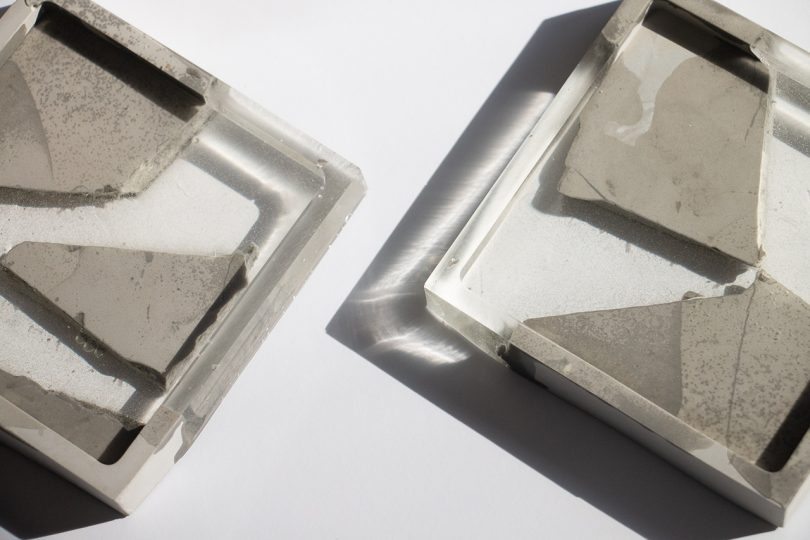 concrete and resin coasters detail