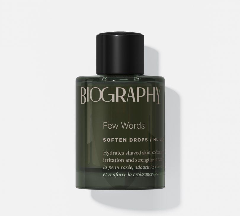 bottle of face oil