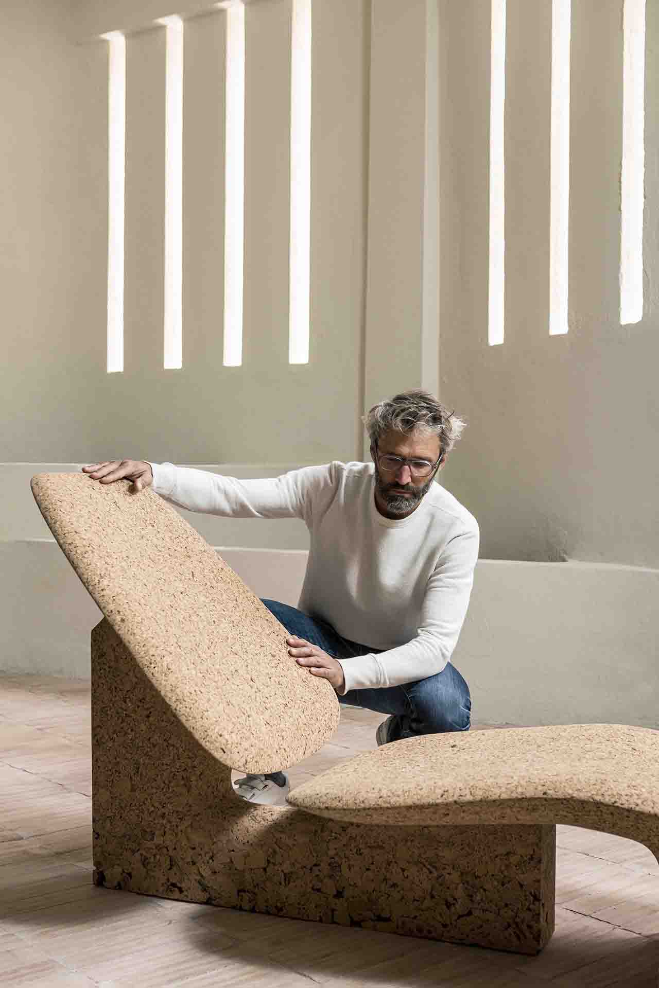 Noe Duchaufour-Lawrance with cork chaise lounge