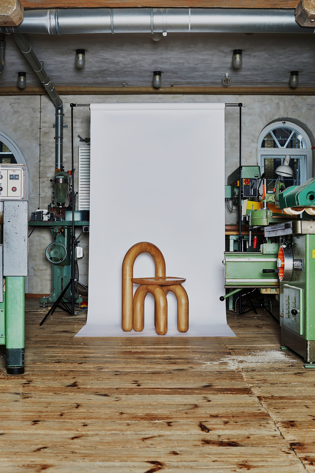 chair on backdrop