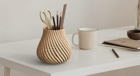 Forust + fuseproject's 3D Printing Transforms Wood Waste Into Beautiful Vessels