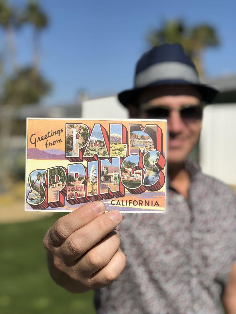 man holding Palm Springs
