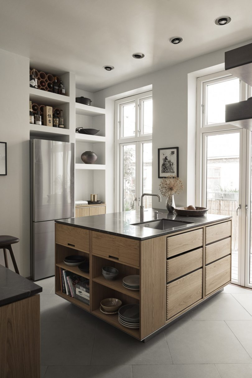 ?A Kitchen of Love? Highlights the Beauty of Wood in This Copenhagen Flat