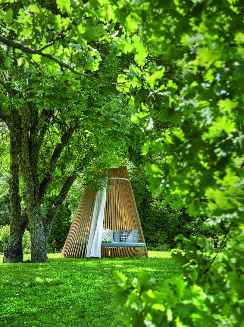 hut in foliage