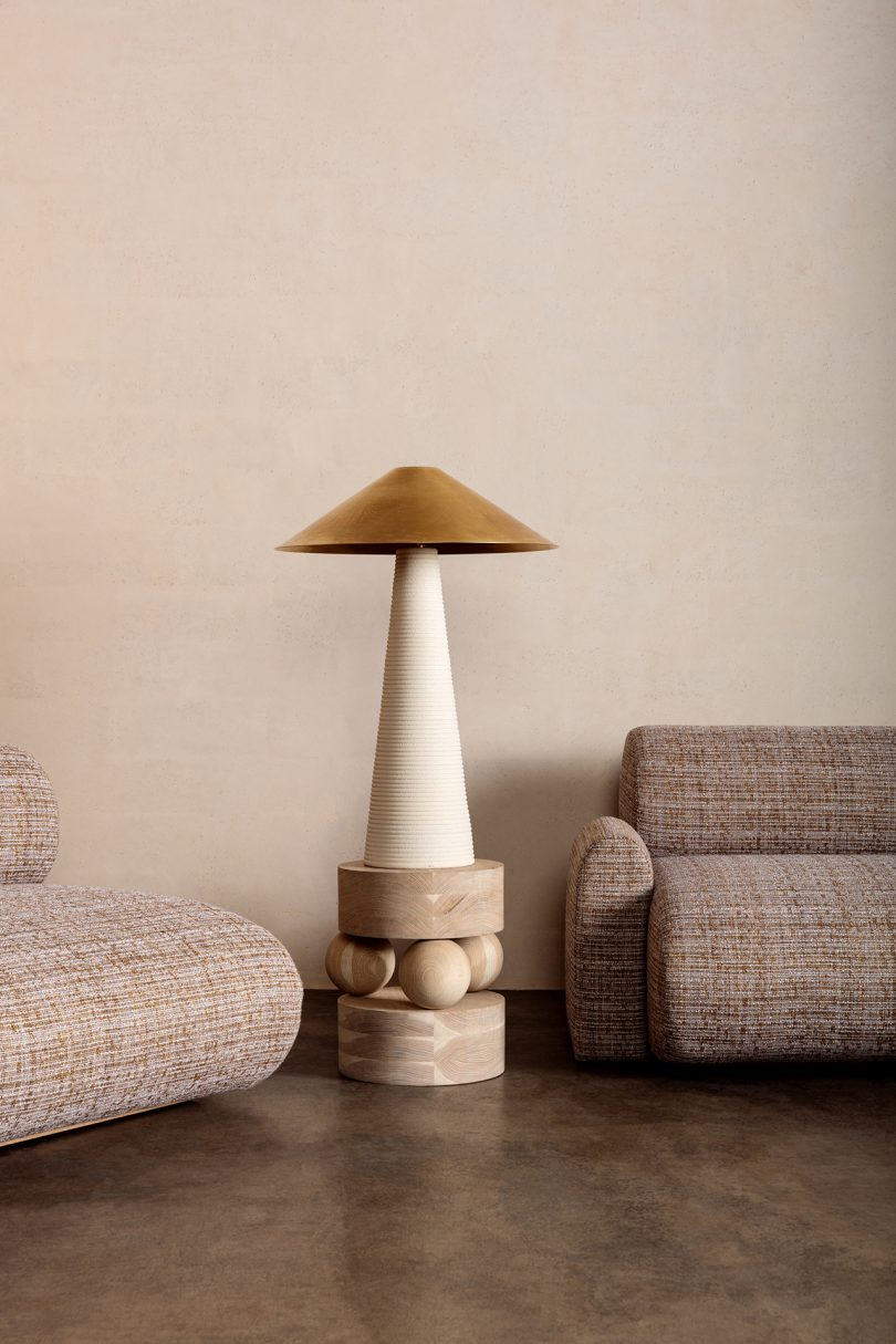 seating with side table and lamp