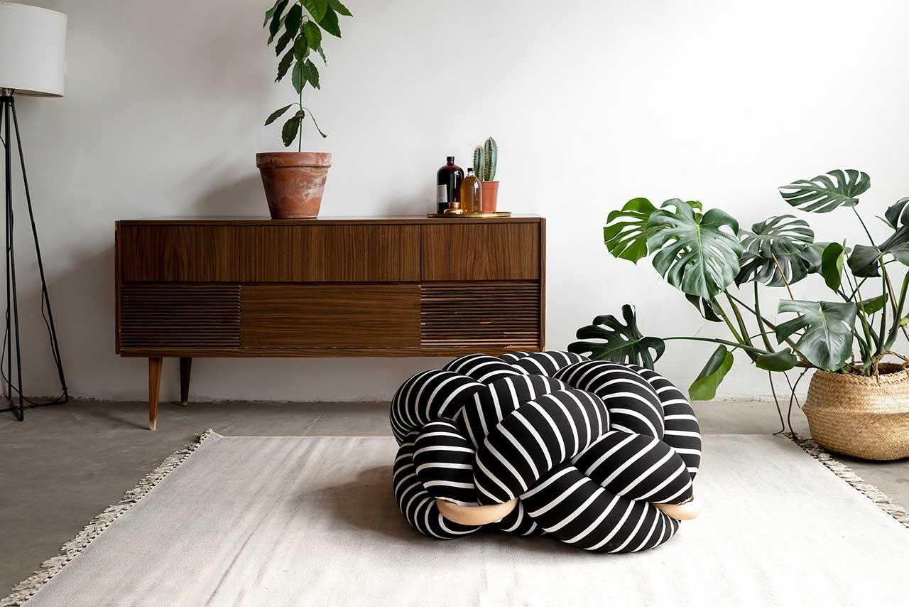 Knots Studio Adds a Soft Playful Twist to Cushions + Stools