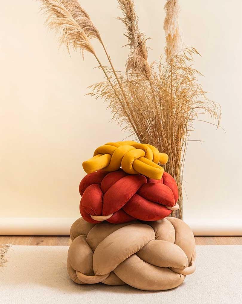 knot floor pillows