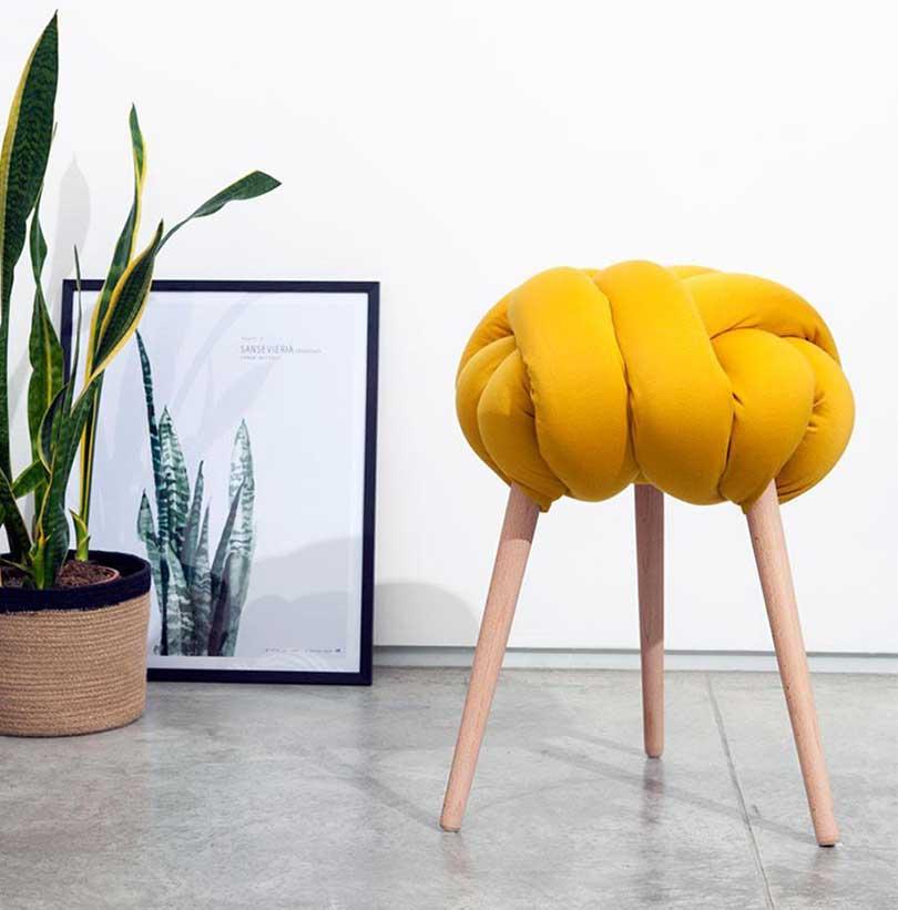 yellow knot stool
