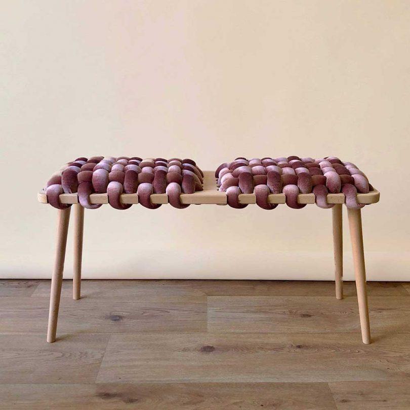 velvet woven bench