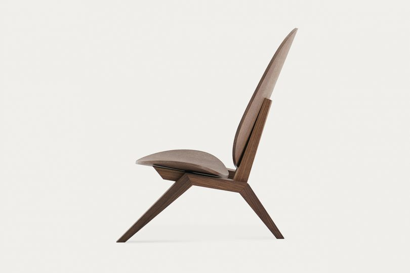brown chair sideview