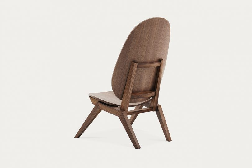 brown chair backview