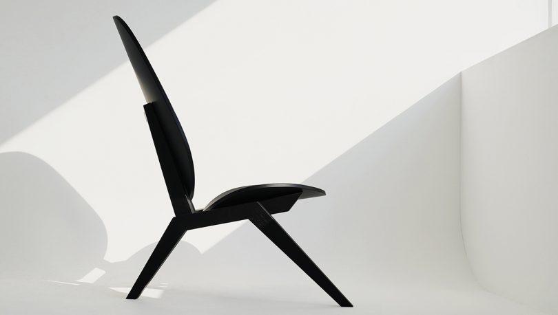 black chair side profile