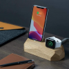 phone and watch charging on dock