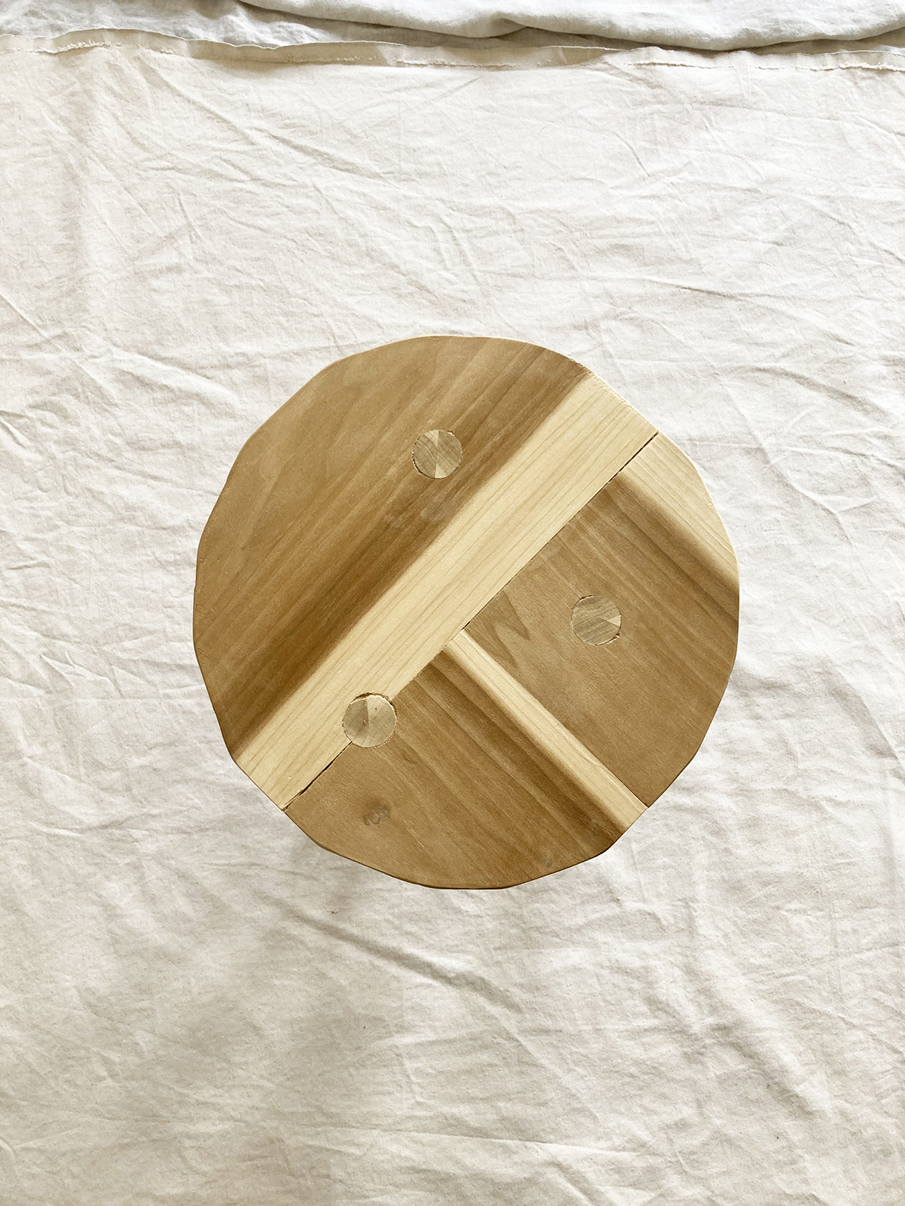 top view of stool