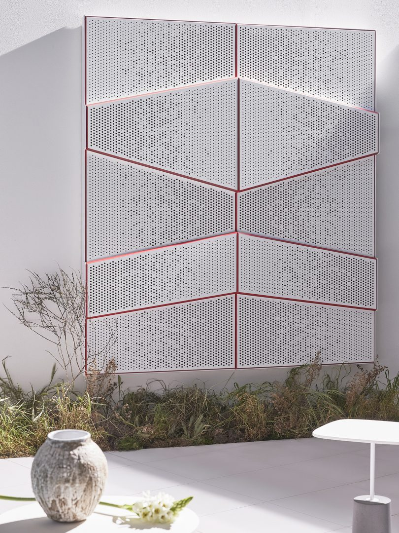 exterior space with wall panels