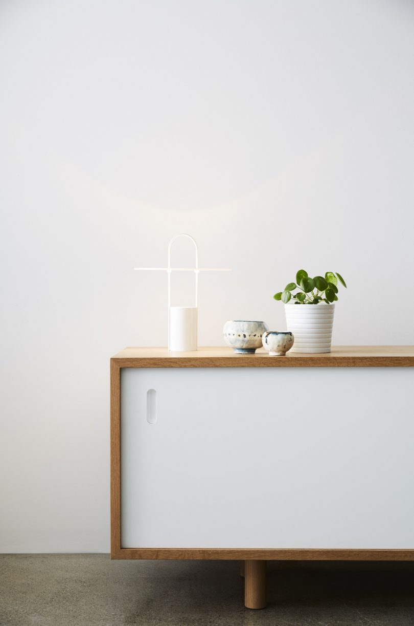 table lamp on console