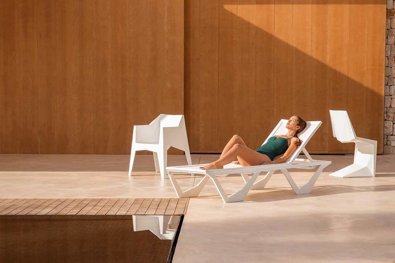 Vondom's Karim Rashid Voxel Sun Chaise Features Style + Functionality
