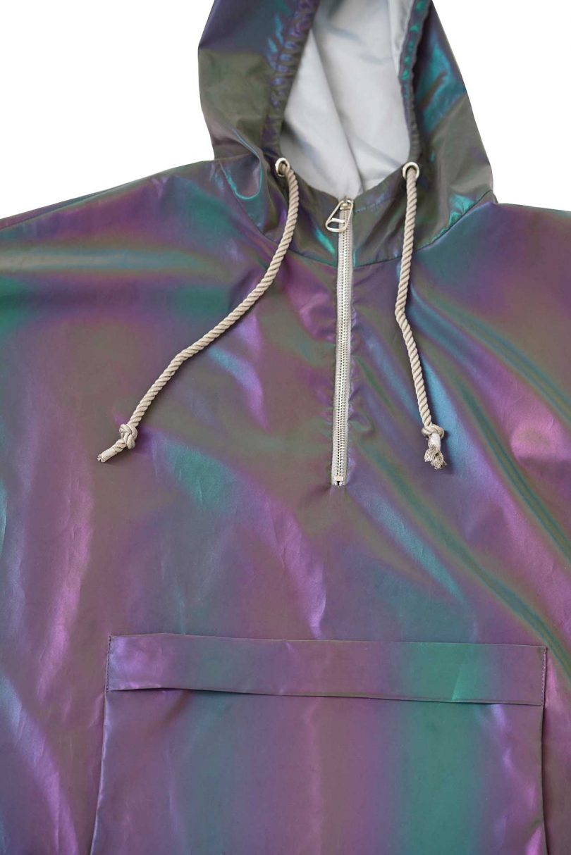 rain poncho closeup