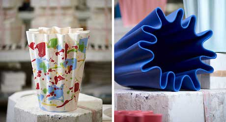 Simone Post Experiments With Ceramics to Create the Lakenvaas for Cor Unum