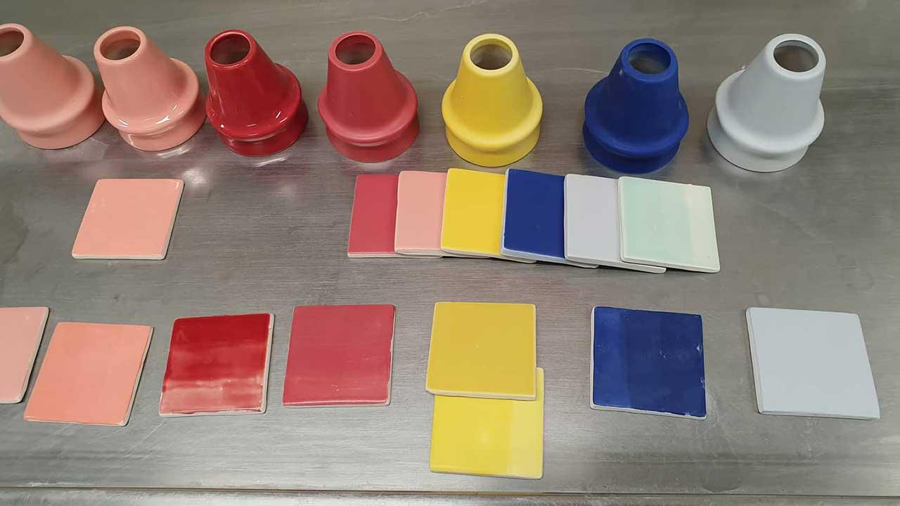 ceramic color samples