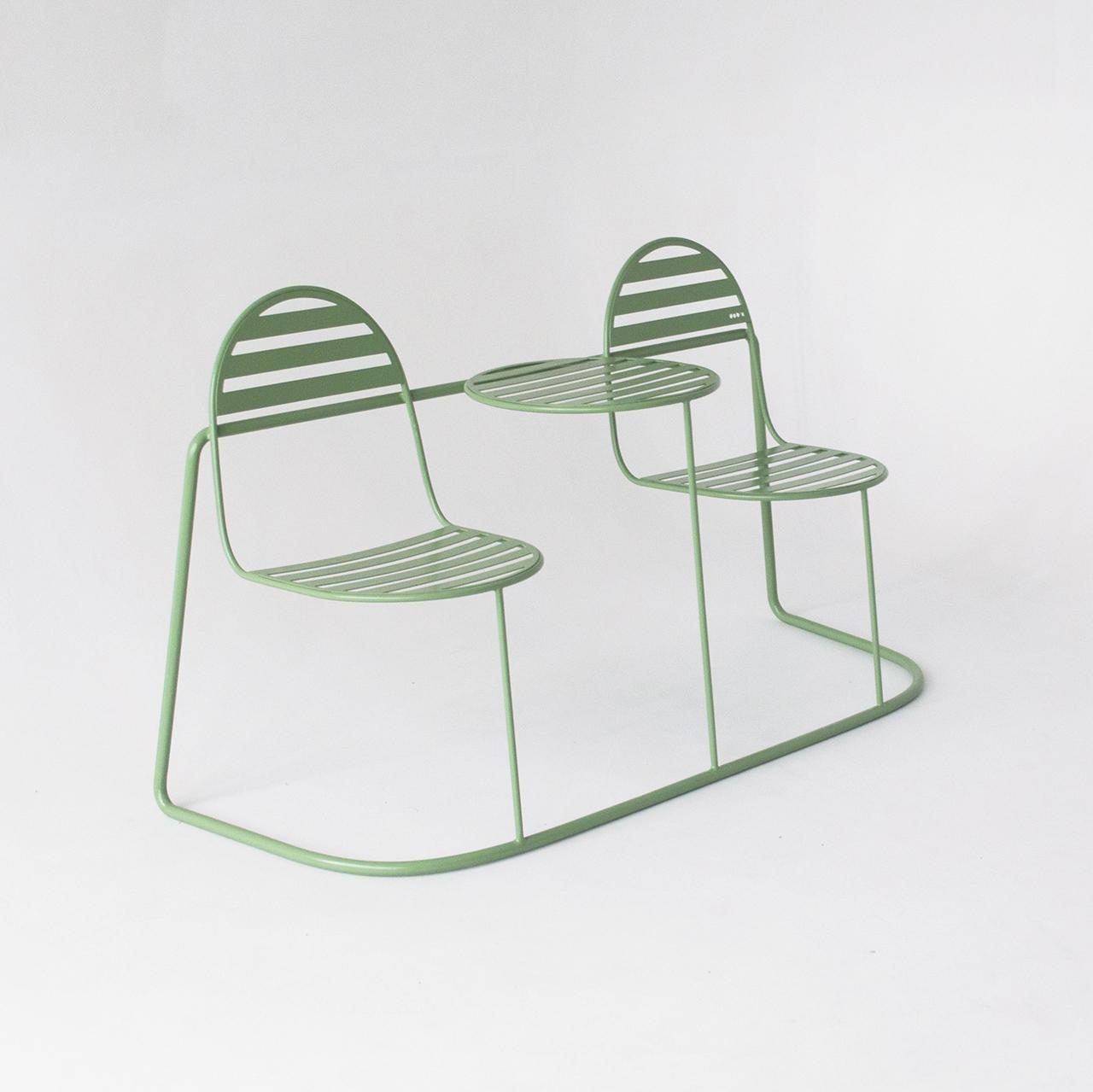 metal outdoor seating