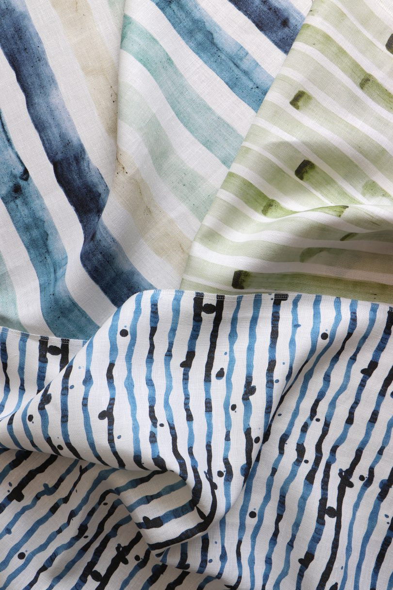 Detail of fabric swatches