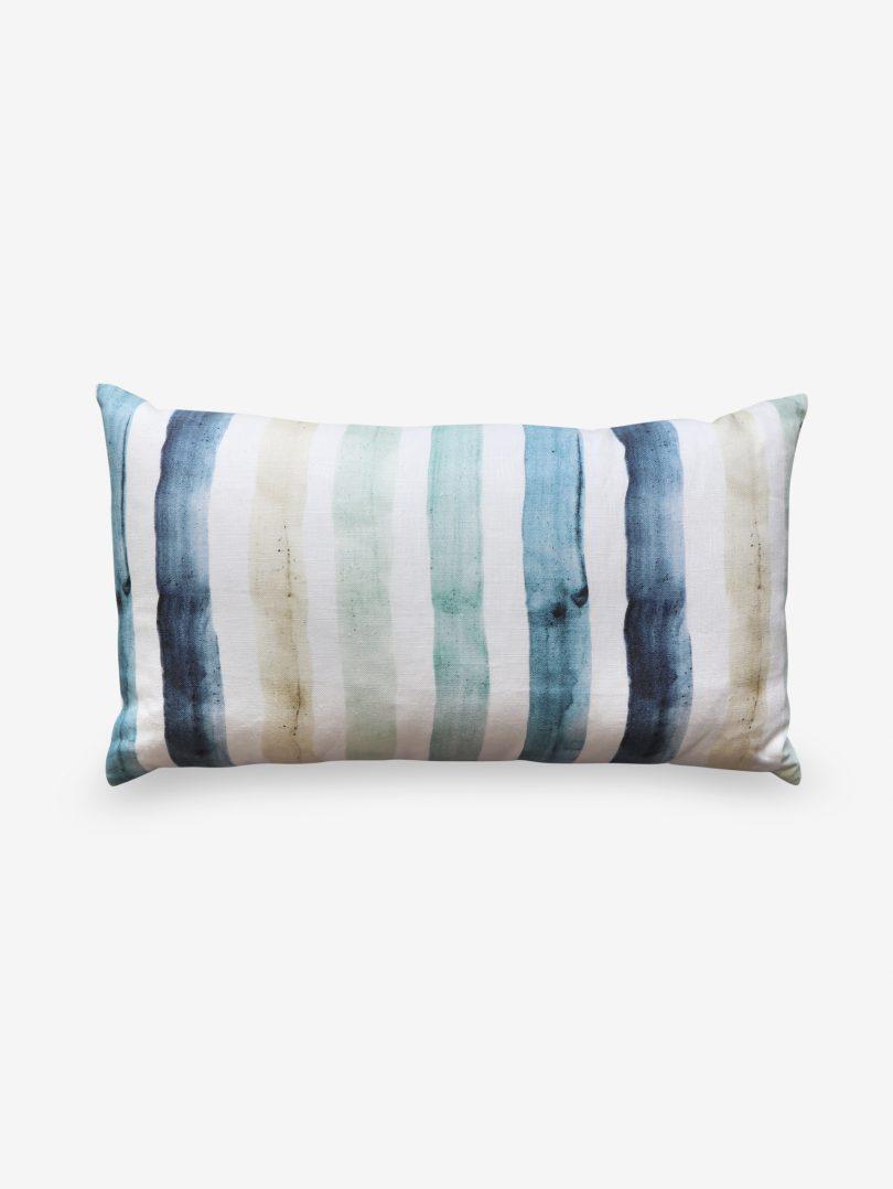 gradient stripe pillow