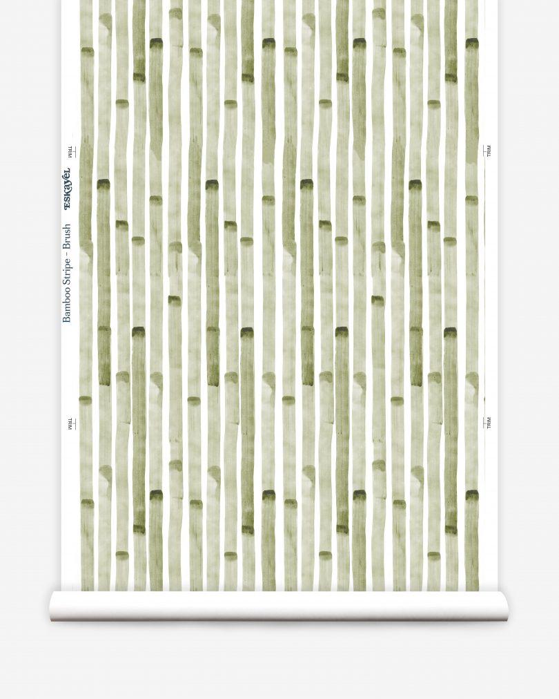 green bamboo wallpaper roll